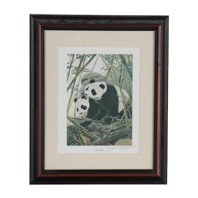 "John Ruthven Offset Lithograph ""Panda Bears"""