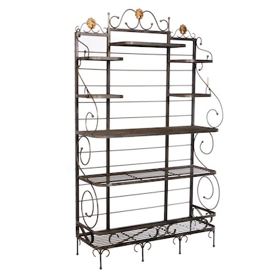 Wrought Metal Baker's Rack, Contemporary