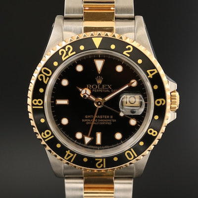 Rolex GMT-Master II 18K Gold and Stainless Steel Automatic Wristwatch, 1995