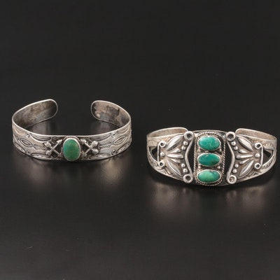 Southwestern Style Sterling Silver Turquoise Bracelets