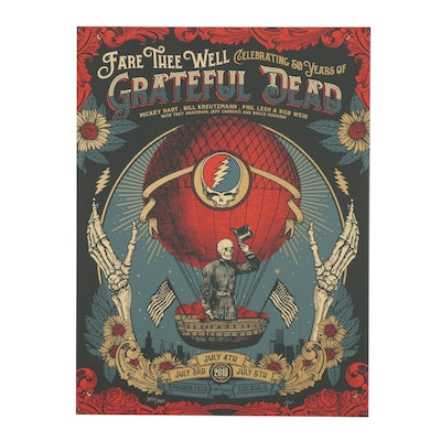 Limited Edition Signed Grateful Dead Poster, 2015