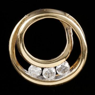 Alwand Vahan 10K Yellow Gold Diamond Pendant
