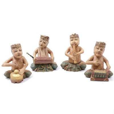Indonesian Composite Musician Figurines