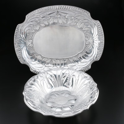 Wilton Armetale Platter and Serving Bowl