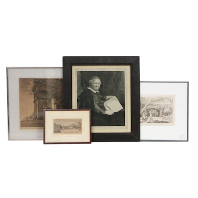 Architectural and Portrait Engravings, 19th/Early 20th Century