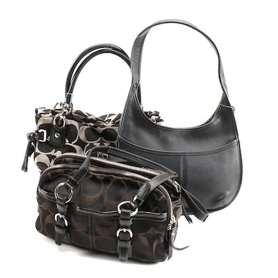 Coach Signature and Leather Soho, Ergo and Kristin Shoulder Bags