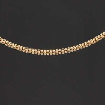 14K Yellow Gold Popcorn Link Chain