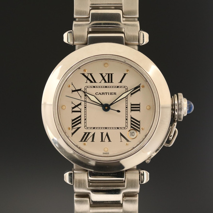 Cartier Pasha Stainless Steel Automatic Wristwatch