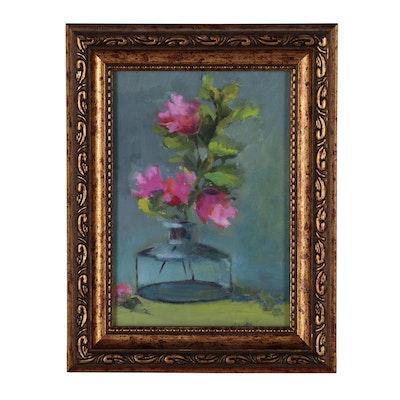 Kathleen Wilkins Floral Still Life Oil Painting