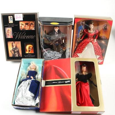 Mattel Barbie Harley-Davidson Doll, Winter Splendor Doll and Others
