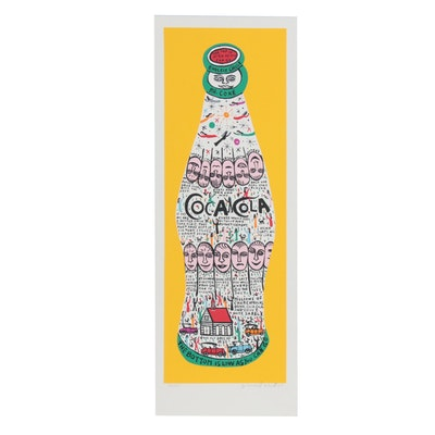 "Howard Finster Serigraph ""Coke Bottle"""