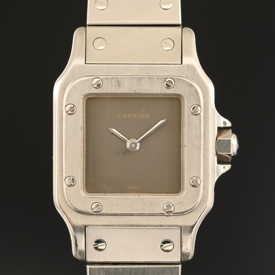 Cartier Santos Stainless Steel Automatic Wristwatch