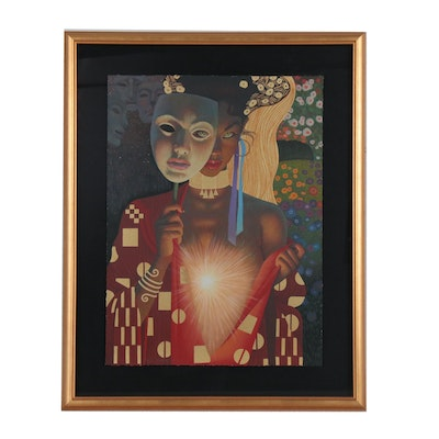 "Thomas Blackshear Serigraph ""Intimacy"""