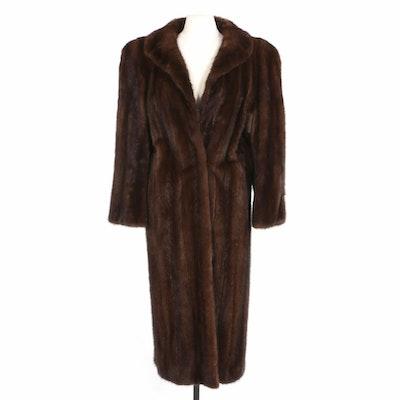 Mahogany Mink Fur Full-Length Coat, Vintage