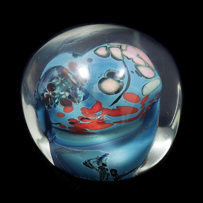 Andrews Karg Art Glass Paperweight, Late 20th Century
