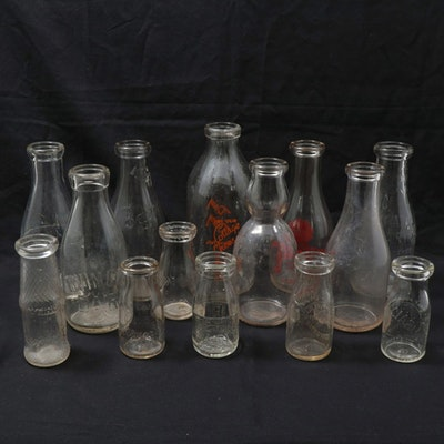 Milk and Dairy Advertising Bottles, 20th Century