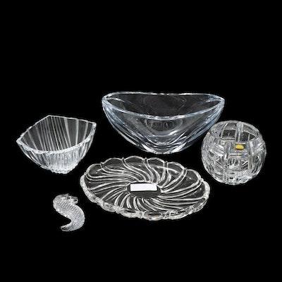 """Waterford """"Seahorse"""", Libera Crystal Bowl, Polish Bohemian Crystal, and More"""