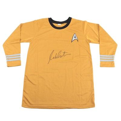 """William Shatner Signed """"Capt. James T. Kirk"""" Star Trek-Fleet Crew Shirt, JSA COA"""