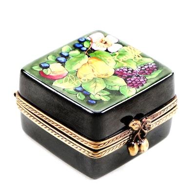 La Gloriette Hand-Painted Porcelain Chocolate Truffles Limoges Box
