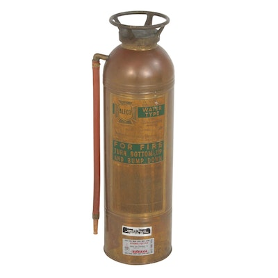 American-LaFrance-Foamite Corporation Brass Fire Extinguisher