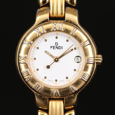 Fendi Orologi Stainless Steel and Gold Plating Quartz Wristwatch
