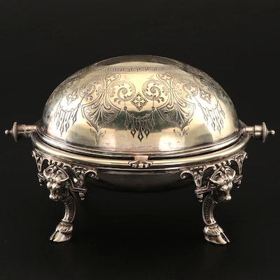 Victorian Silver Plate Breakfast Server, 19th Century