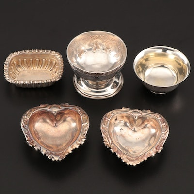 Intercontinental Sterling and .999 Fine Silver Salt Cellars with Others