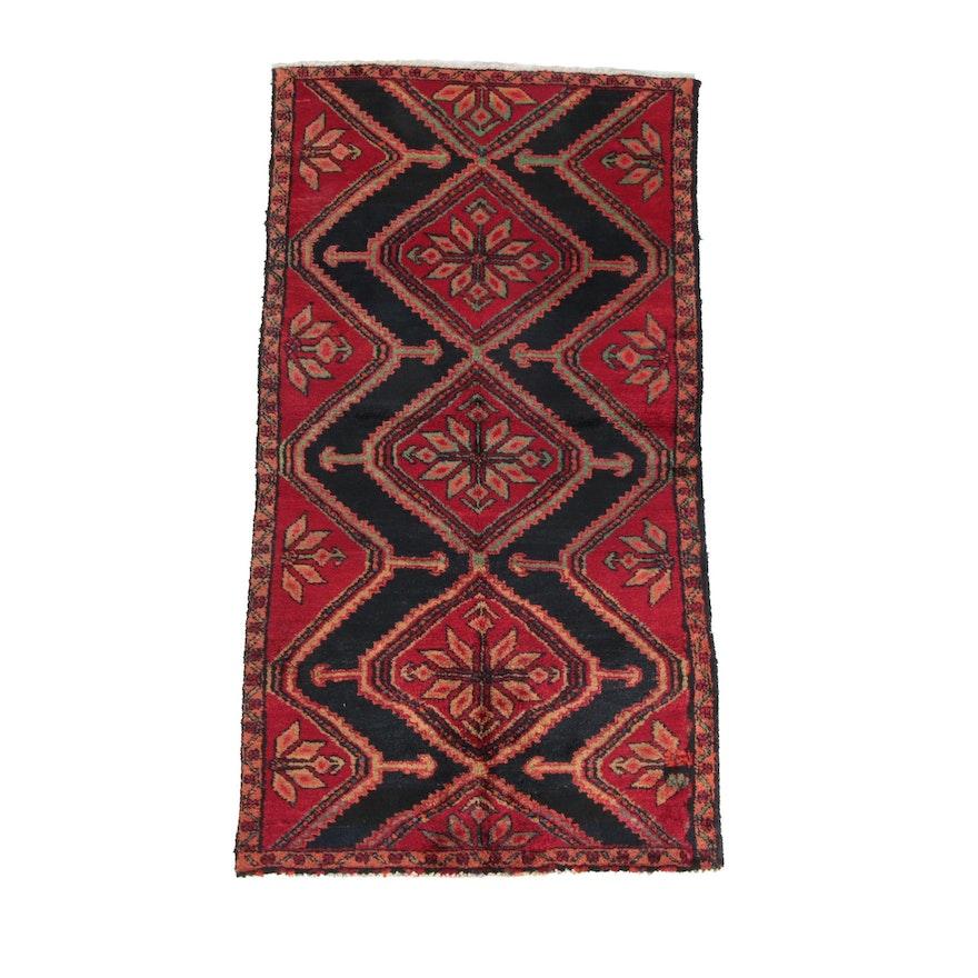 3'5 x 6'4 Hand-Knotted Persian Karajeh Wool Rug