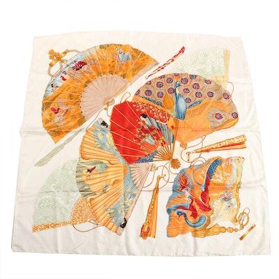"Hermès ""Brise de Charme"" Silk Twill Scarf Designed by Julia Abadie"