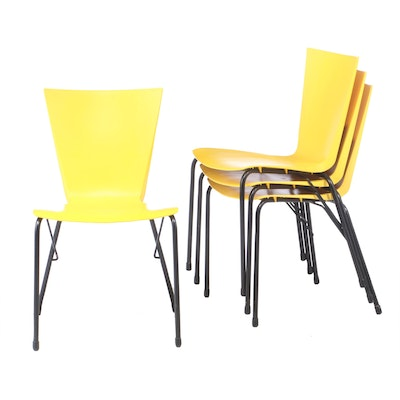 Contemporary Modern Loewenstein Plastic Stacking Side Chairs