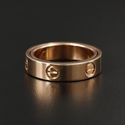 """Cartier """"Love"""" 18K Yellow Gold Ring"""