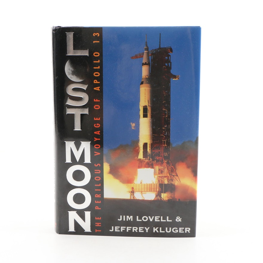 "Jim Lovell Signed ""Lost Moon: Perilous Voyage of Apollo 13"", First Edition"