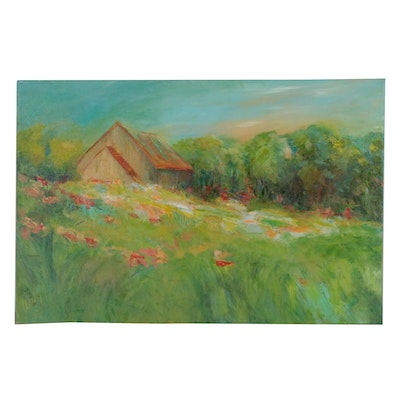"Trish Weeks Oil Landscape Painting ""The Good Life"""