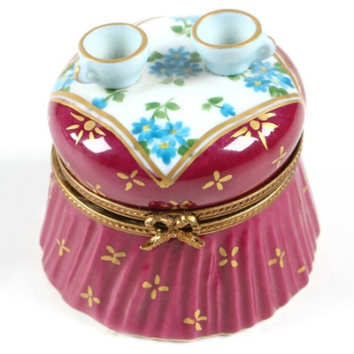 Limited Edition Hand-Painted Porcelain Boudoir Table Limoges Box