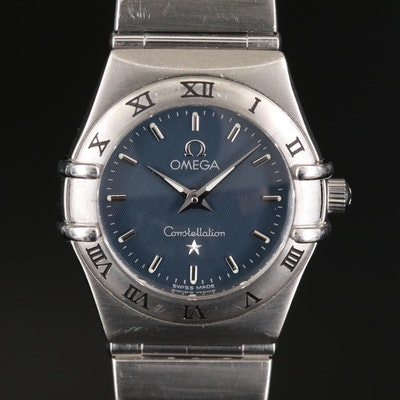 Omega Constellation Stainless Steel Quartz Wristwatch