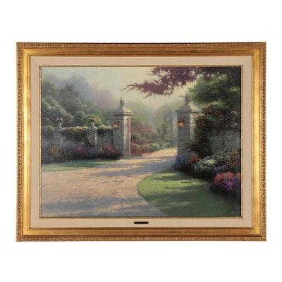 "Thomas Kinkade Offset Lithograph ""Summer Gate"""