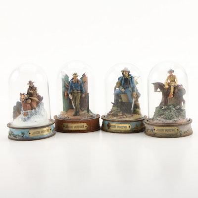 Hand-Painted Resin Limited Edition John Wayne Figurines