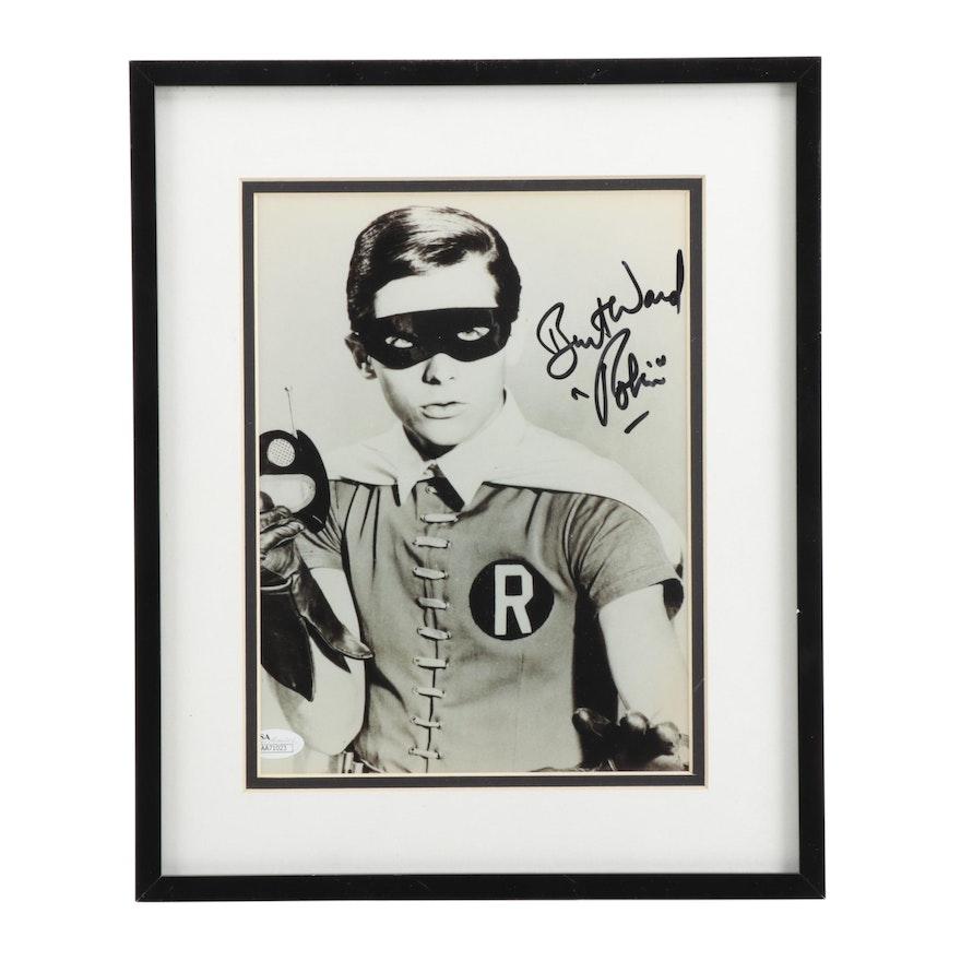 "Framed Burt Ward ""Robin"" Signed Photo Print  COA"