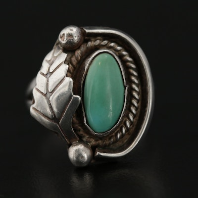 Southwestern Style Sterling Silver and Turquoise Ring