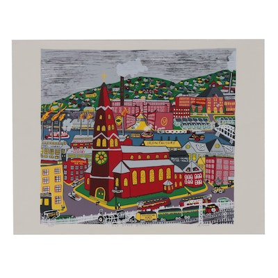 "Kathleen Ferri Serigraph ""Old Strip District"""