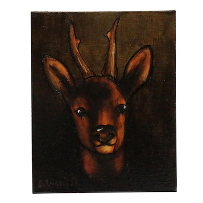 David Andrews Oil Painting of Deer