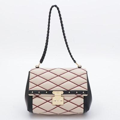 Louis Vuitton Natural/Rouge Lambskin Leather Malletage Pochette Flap Bag