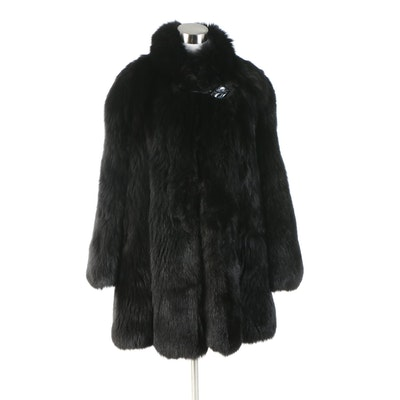 Speranza Black Fox Fur Short Coat