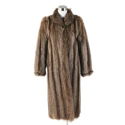 Raccoon Fur Full-Length Coat from Hudson's Fur Salon