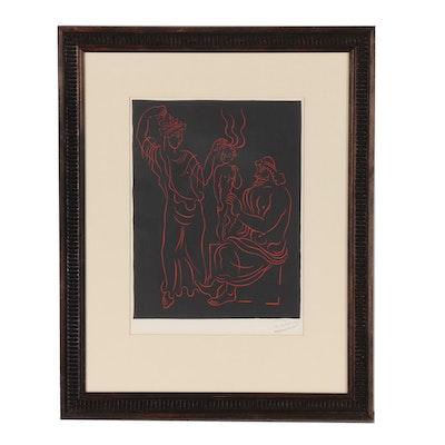 "André Derain Restrike Linoleum Cut ""L'Enfant"", circa 1968"