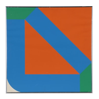Georg Karl Pfahler Geometric Abstract Serigraph