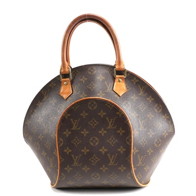 Louis Vuitton Ellipse MM Bag in Monogram Canvas and Leather