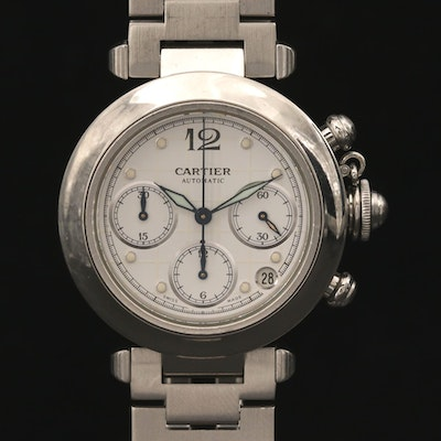 Cartier Pasha C. Automatic Chronograph Wristwatch