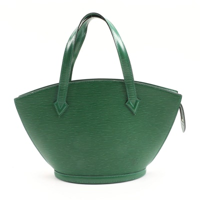 Louis Vuitton Saint Jacques PM Bag in Borneo Green Epi Leather