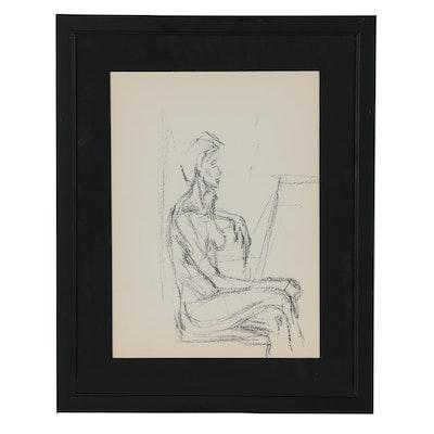 """Alberto Giacometti Figurative Lithograph for """"Derrière le Miroir"""", 1960"""